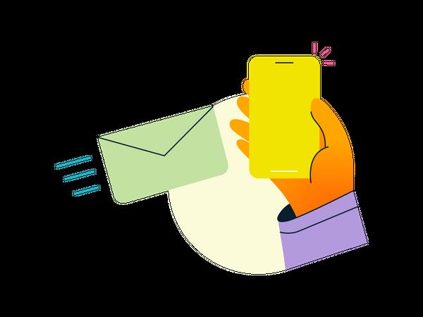 Message sent Illustration