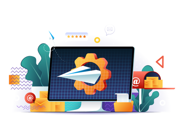Messaging service Illustration