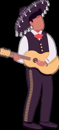 Mexican guitarist Illustration
