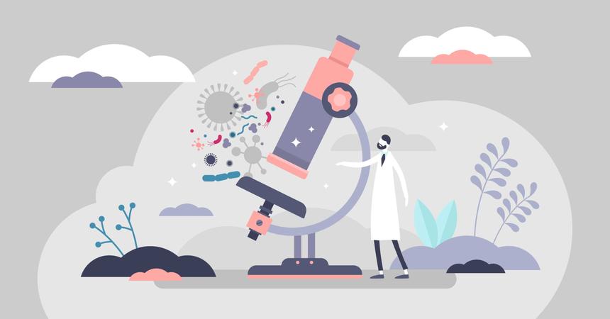 Microscopy Illustration