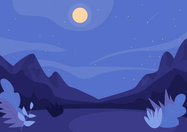 Midnight in nature Illustration