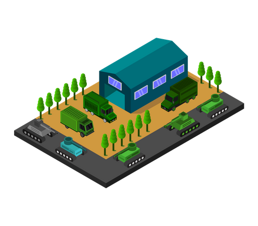 Military base Illustration