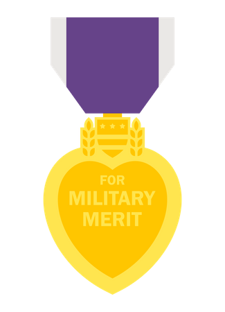 Military Merit Badge Illustration