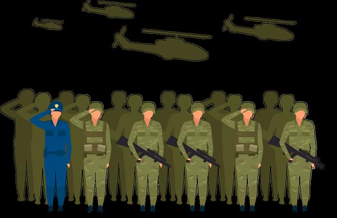 Military regime Illustration