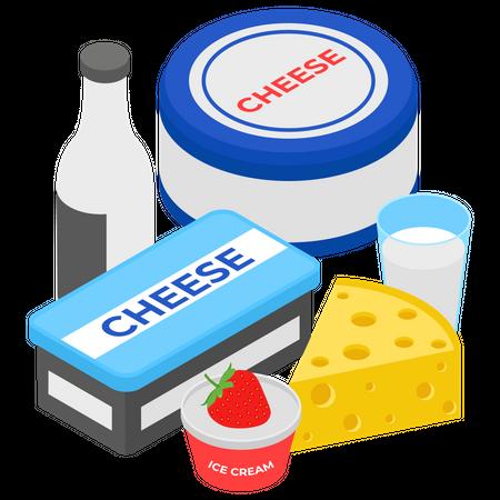 Milk Product Illustration