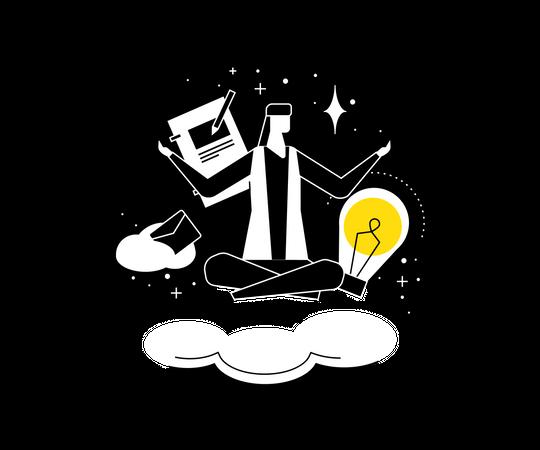 Mindfulness at work Illustration