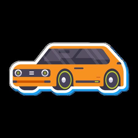 Mini car Illustration
