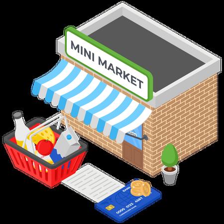 Mini Market Stall Illustration