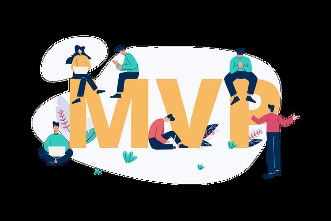 Minimum viable products - MVP Illustration