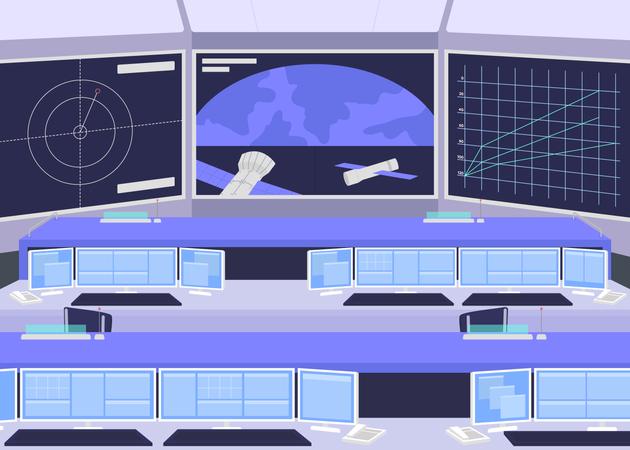 Mission control center Illustration
