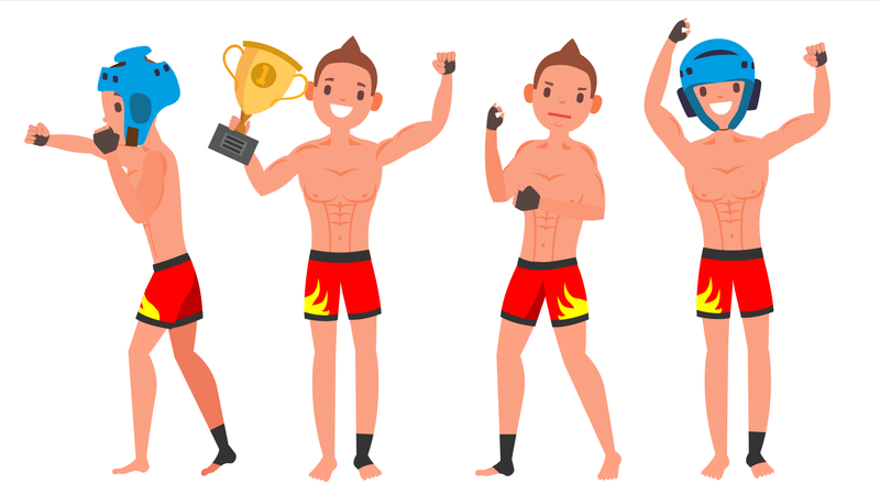 MMA Young Man Player Illustration