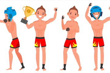 MMA Player Male Illustration Pack