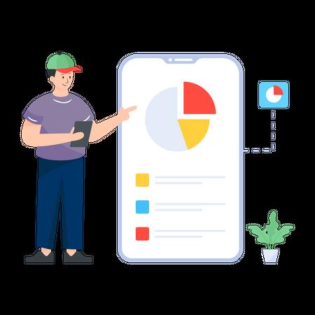 Mobile Analytics Illustration