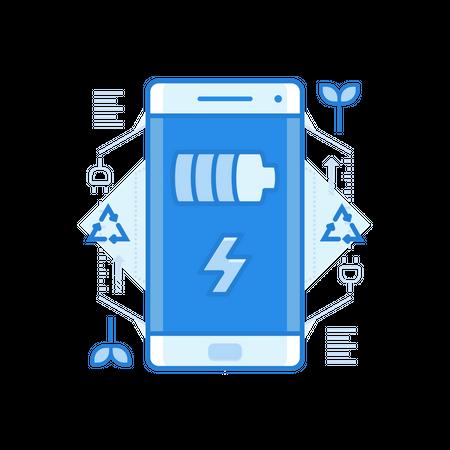 Mobile Battery Illustration