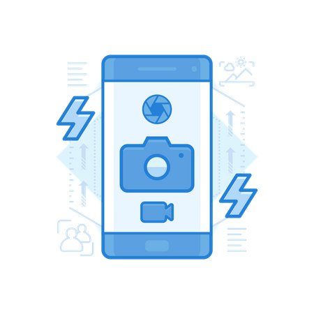 Mobile Camera Illustration