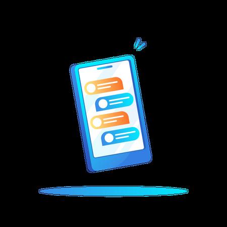Mobile chatting Illustration