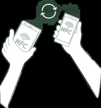 Mobile content sharing Illustration