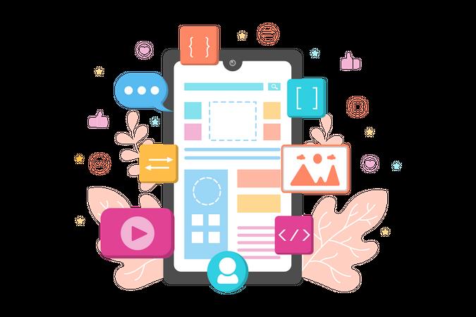 Mobile Development Illustration