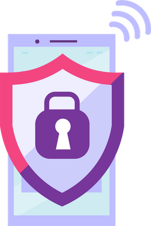 Mobile high protection Illustration