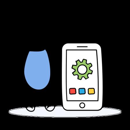 Mobile Optimization Illustration