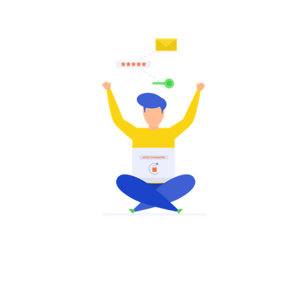 Mobile Password Reset Illustration