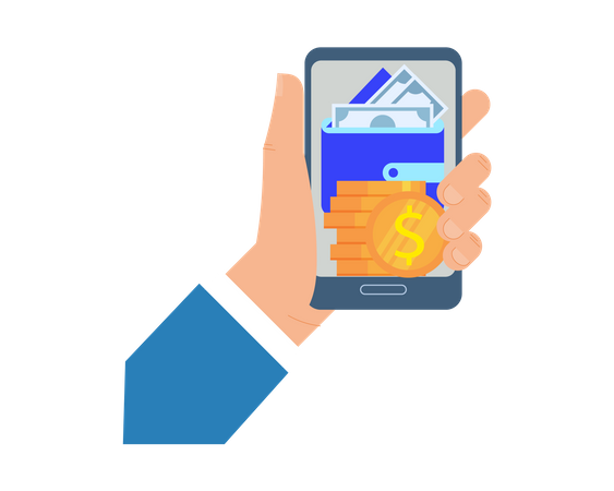 Mobile payment Illustration