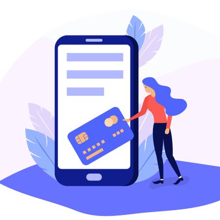 Mobile payment online service Illustration