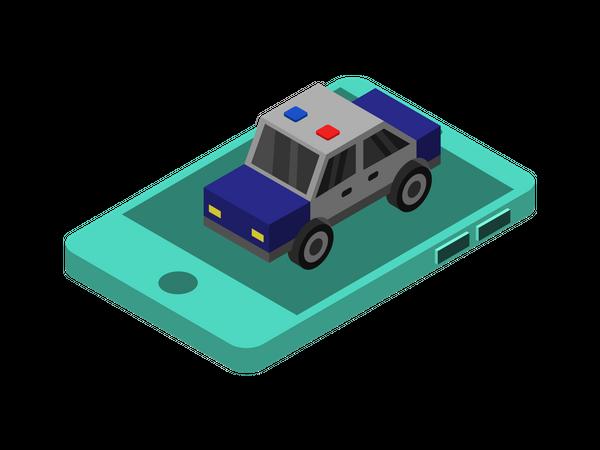 Mobile Police Illustration