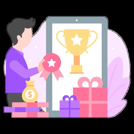 Mobile Shopping Reward Illustration
