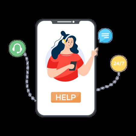 Mobile Support Illustration