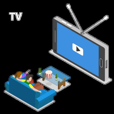 Mobile TV Illustration