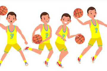 Basketball Player Illustration Pack