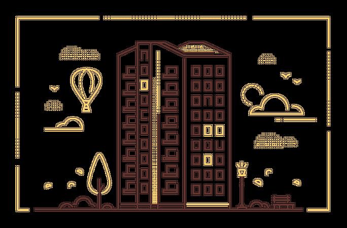 Modern building Illustration