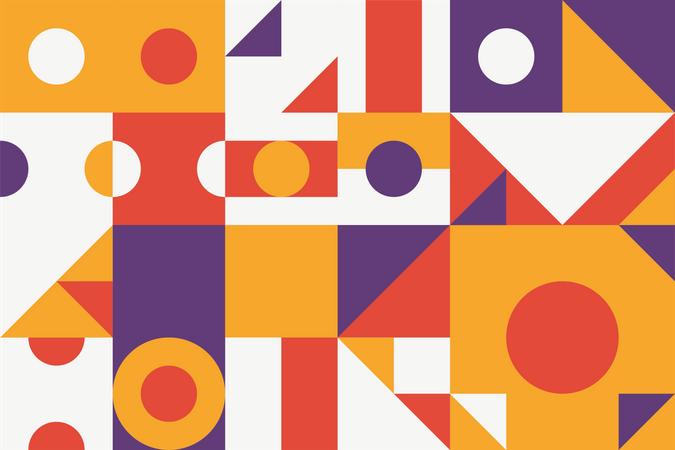 Modular primitive shapes pattern texture Illustration