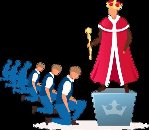 Monarchy political system Illustration