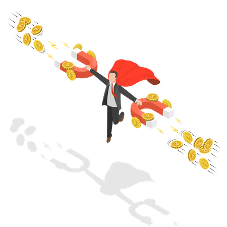 Money attraction Illustration