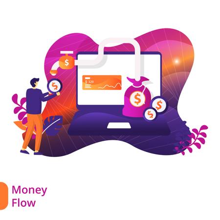 Money Flow Illustration