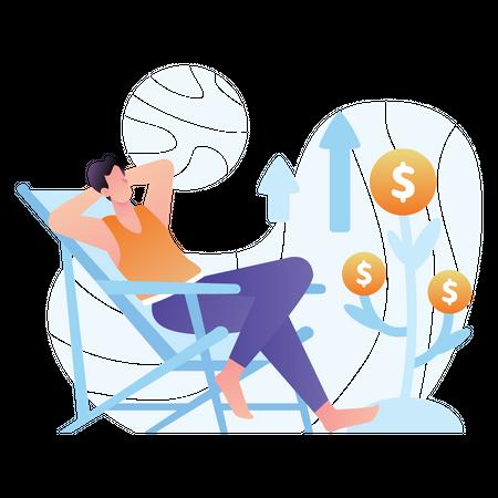 Money Growth Illustration