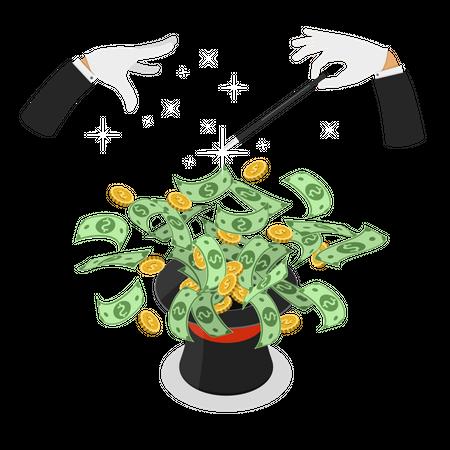 Money investment Illustration