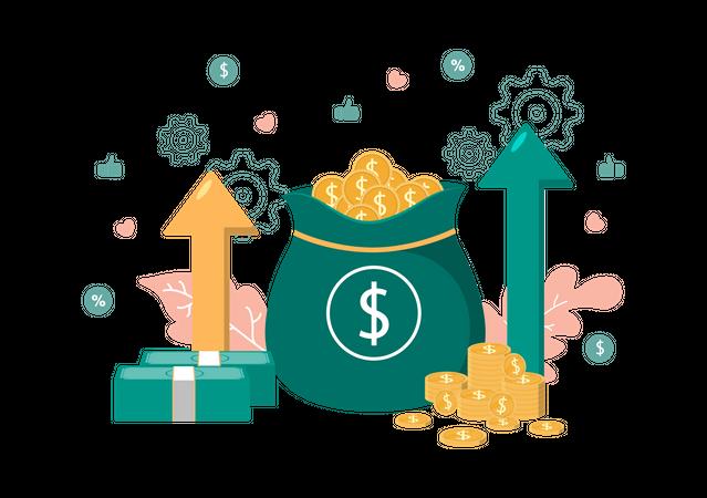 Money Investment Growth Illustration