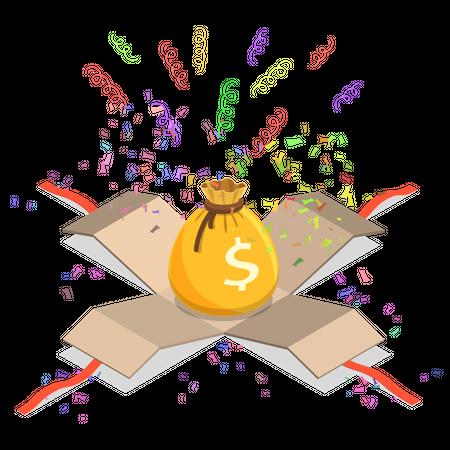 Money Jackpot Illustration