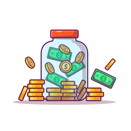 Money jar Illustration