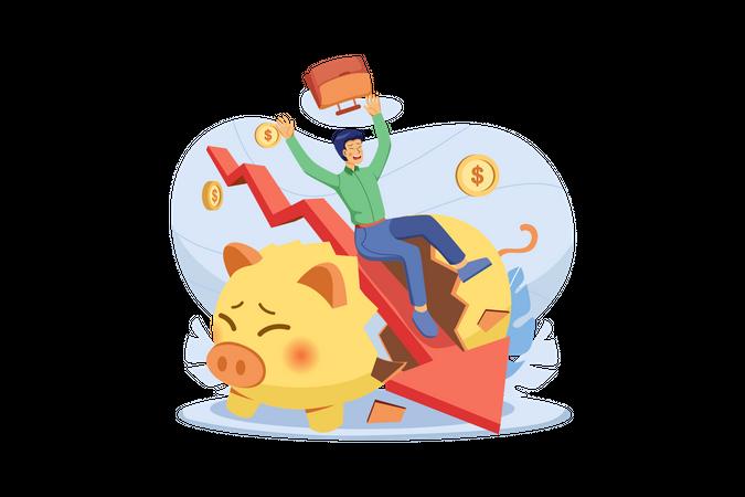 Money Loss Illustration