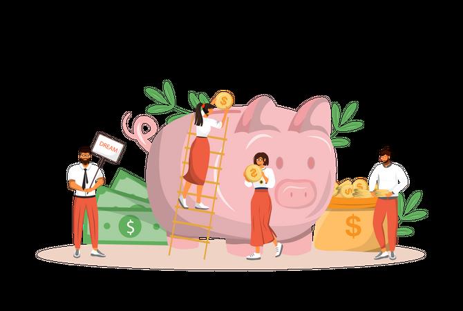 Money saving Illustration