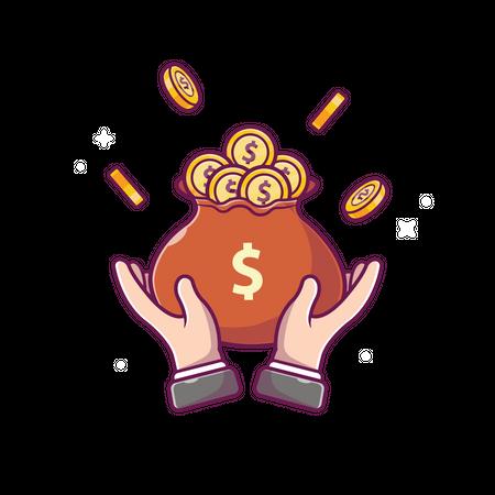 Money savings Illustration