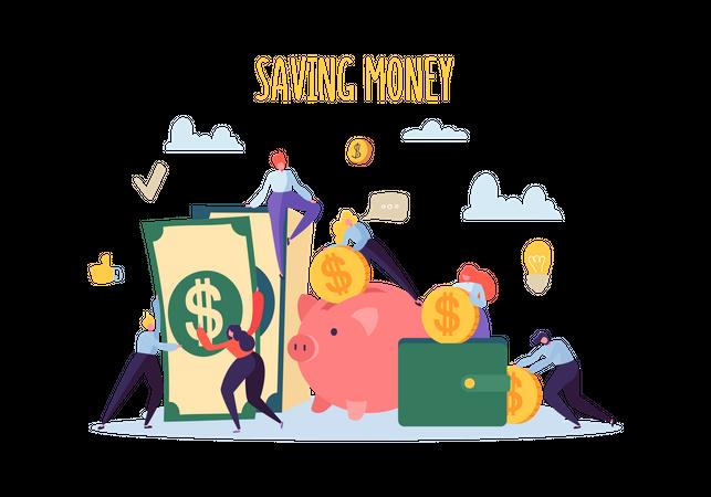 Money savings - Business profit concept Illustration