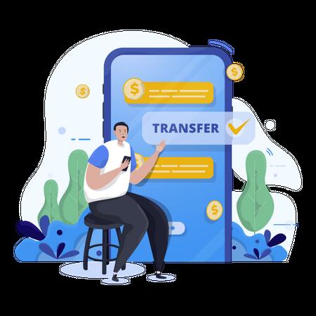 Money transfer Illustration