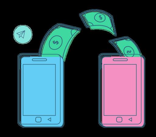 Money transfer App Illustration