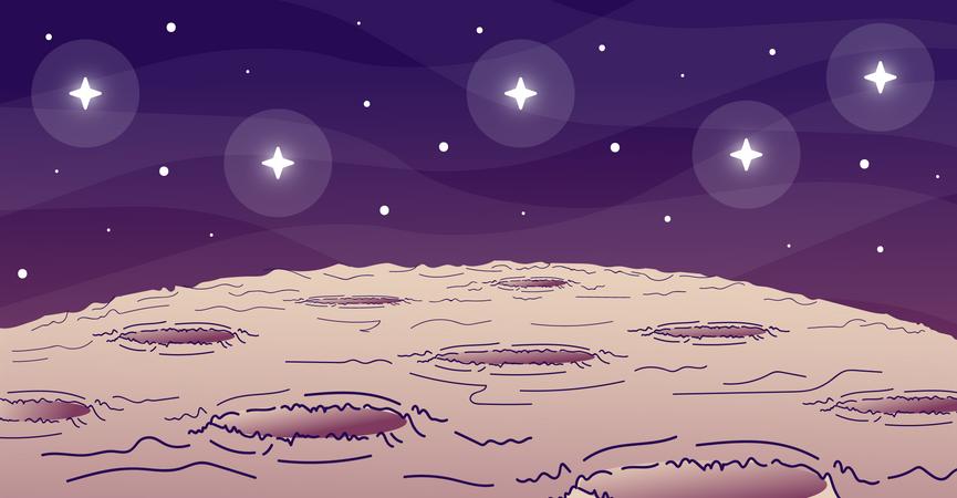 Moon surface Illustration
