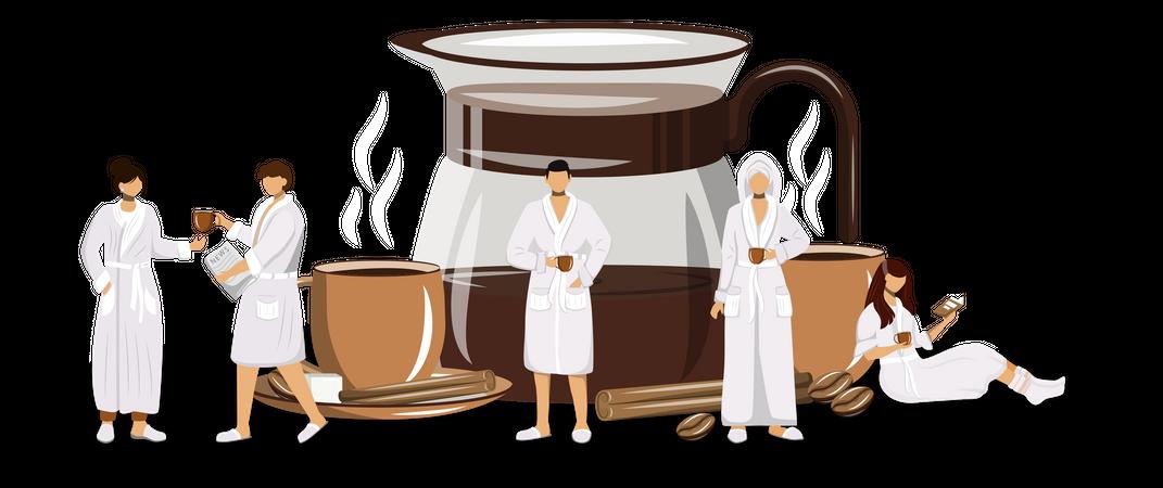 Morning coffee Illustration